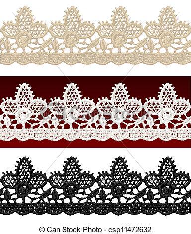 Openwork lace seamless border.