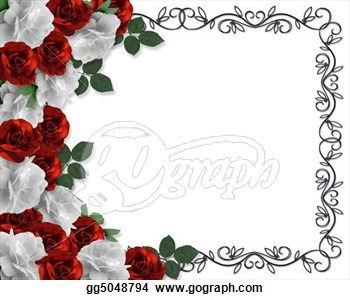 Or Wedding Border Roses Clipart Drawing -Or Wedding Border Roses Clipart Drawing Gg5048794 Gograph-7