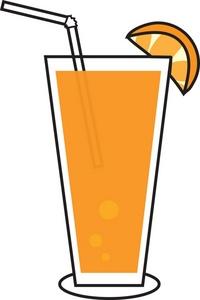 orange juice clipart
