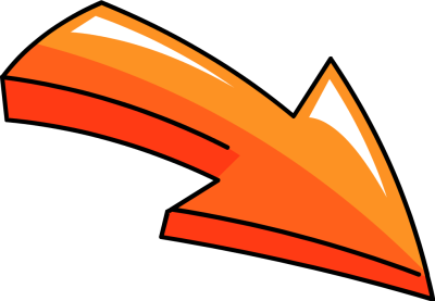 Orange 3d Arrow Head Pricing  - Clip Art Arrows
