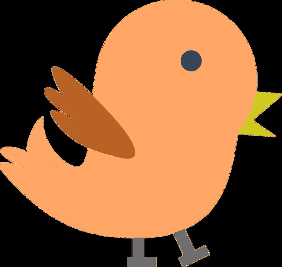 Orange bird Clipart - baby, .