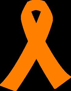 Orange Cancer Ribbon Clip Art