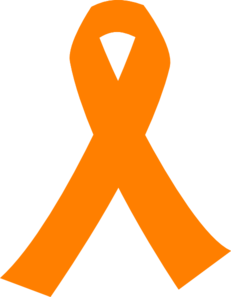 Orange Cancer Ribbon Clip Art