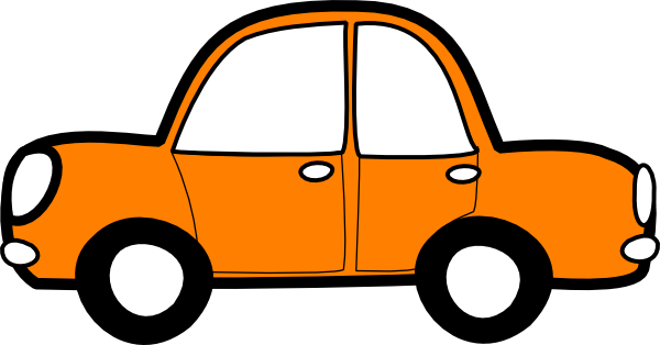 Orange Car Clip Art