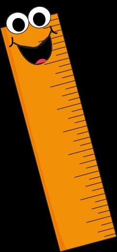 Orange Cartoon Ruler Clip Art Orange Cartoon Ruler Vector Image