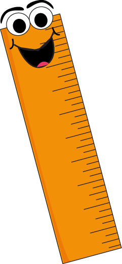 Orange Cartoon Ruler Clip Art - Ruler Clip Art
