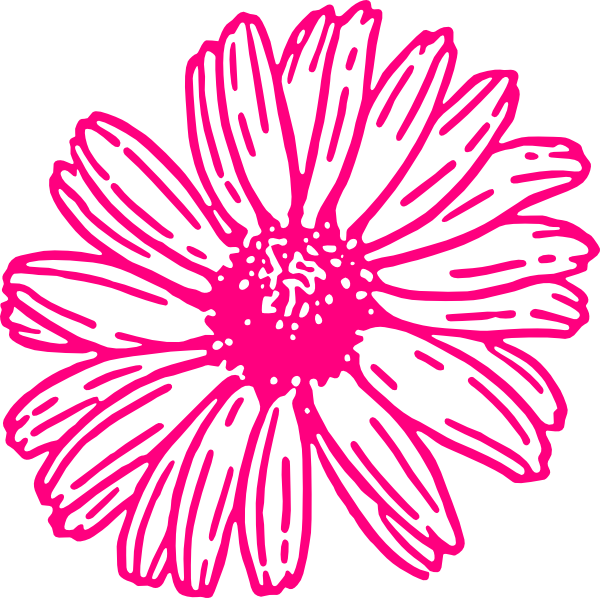 Orange Gerber Daisy Clip Art. Download this image as: