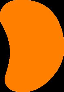 Orange Jelly Bean Clip Art - Jelly Bean Clipart