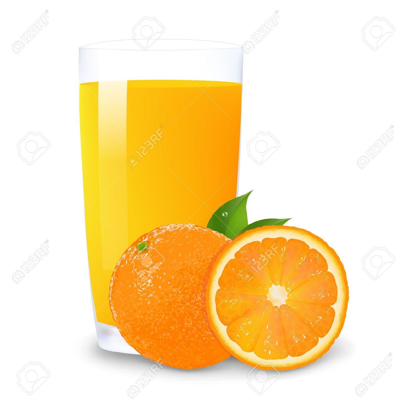 Orange Juice And Slices Of ..