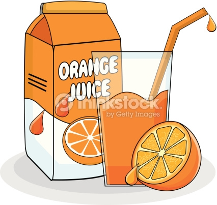 Orange Juice : Vector Art
