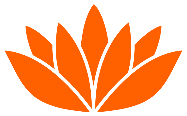 Orange Lotus Flower Picture clip art - vector clip art online