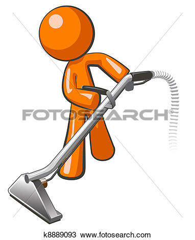Orange Man With Steam Cleaner Carpet Wan-Orange Man with Steam Cleaner Carpet Wand-15