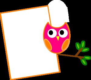 Orange Owl 2 Clip Art At Clker Com Vector Clip Art Online Royalty
