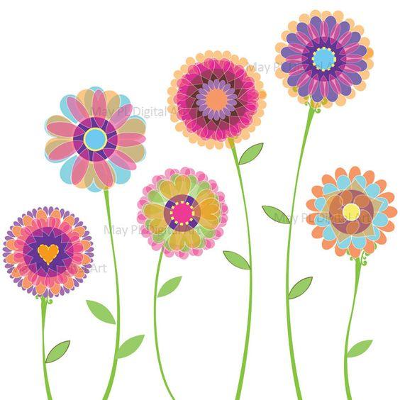 Orange Pink Flowers Clipart Spring Flowe-Orange Pink Flowers Clipart Spring Flowers Decorations Digital Clip Art for Wedding Birthday Scrapbook Make Your-14
