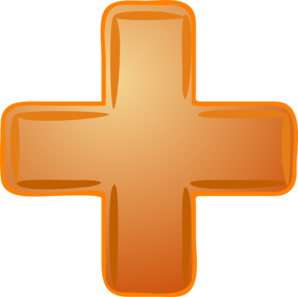 Orange Plus Sign Clip Art