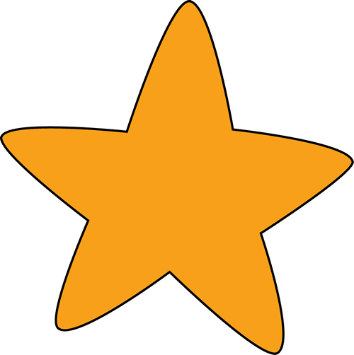 Orange Rounded Star