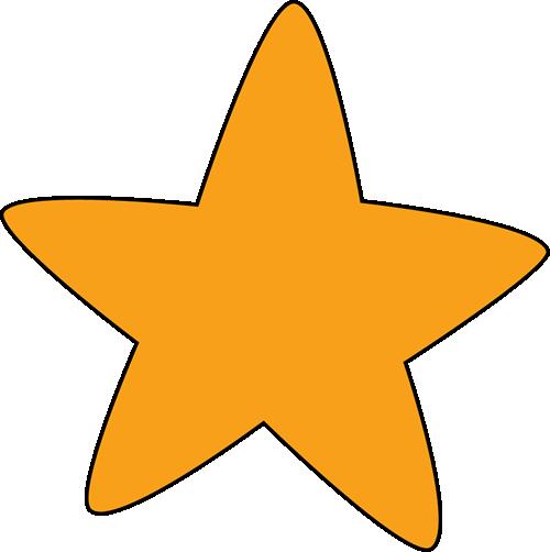 Orange Rounded Star - Star Clip Art