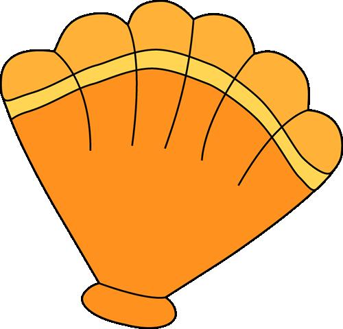 Orange Sea Shell Clip Art - Orange Sea S-Orange Sea Shell Clip Art - Orange Sea Shell Image-2