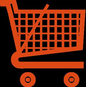 Orange Shopping Cart Clip Art