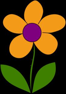Orange Spring Flower Clip Art-Orange Spring Flower Clip Art-4
