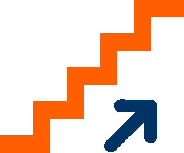 Orange Stairs Clip Art At Clker Com Vector Clip Art Online Royalty