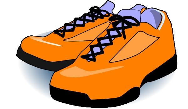 Orange tennis shoes clip art at vector clip art