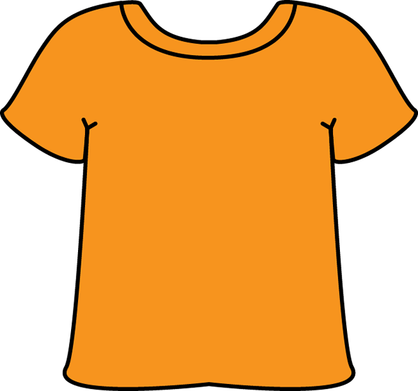 Orange Tshirt - Clip Art T Shirt