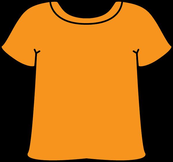 Orange Tshirt - Tshirt Clip Art