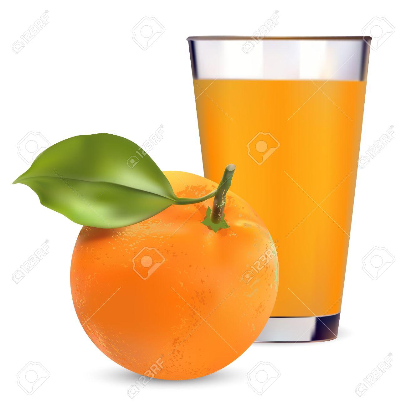 oranges and orange juice on .