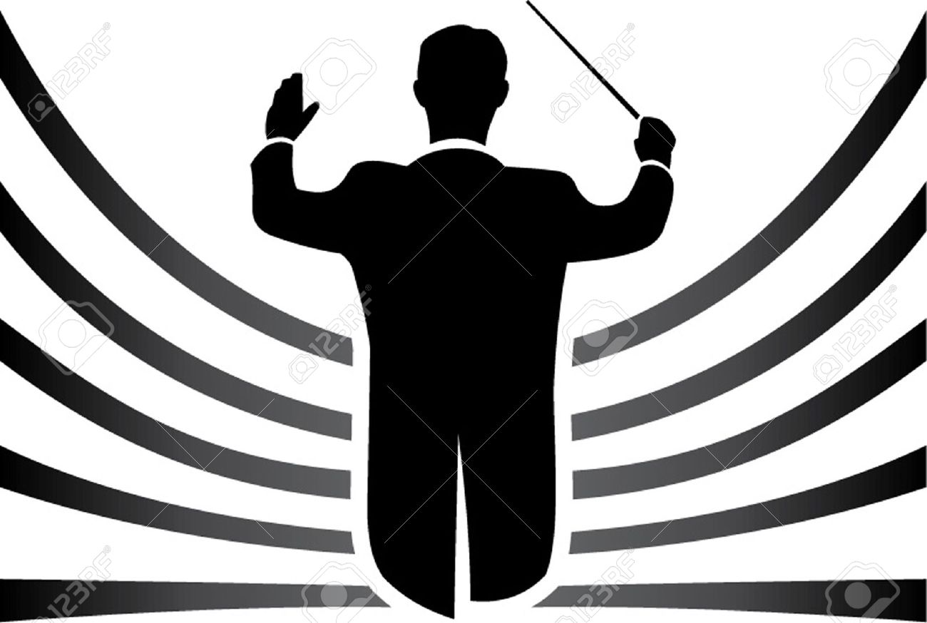 Orchestra Conductor: Black And .-orchestra conductor: black and .-18