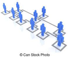 ... organization chart - blue - Organization Clip Art
