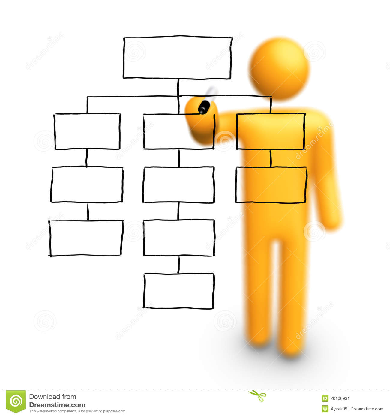 ... organization chart clip art ...