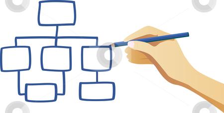 Organization Chart Stock Vector Clipart -Organization Chart Stock Vector Clipart Hand Writing An Organization-12