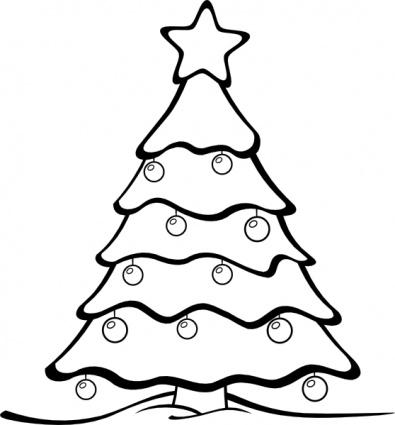 ornament clipart black and white