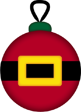 Ornament Decorated As A Red Santa Coat With A Belt And Yellow Buckle