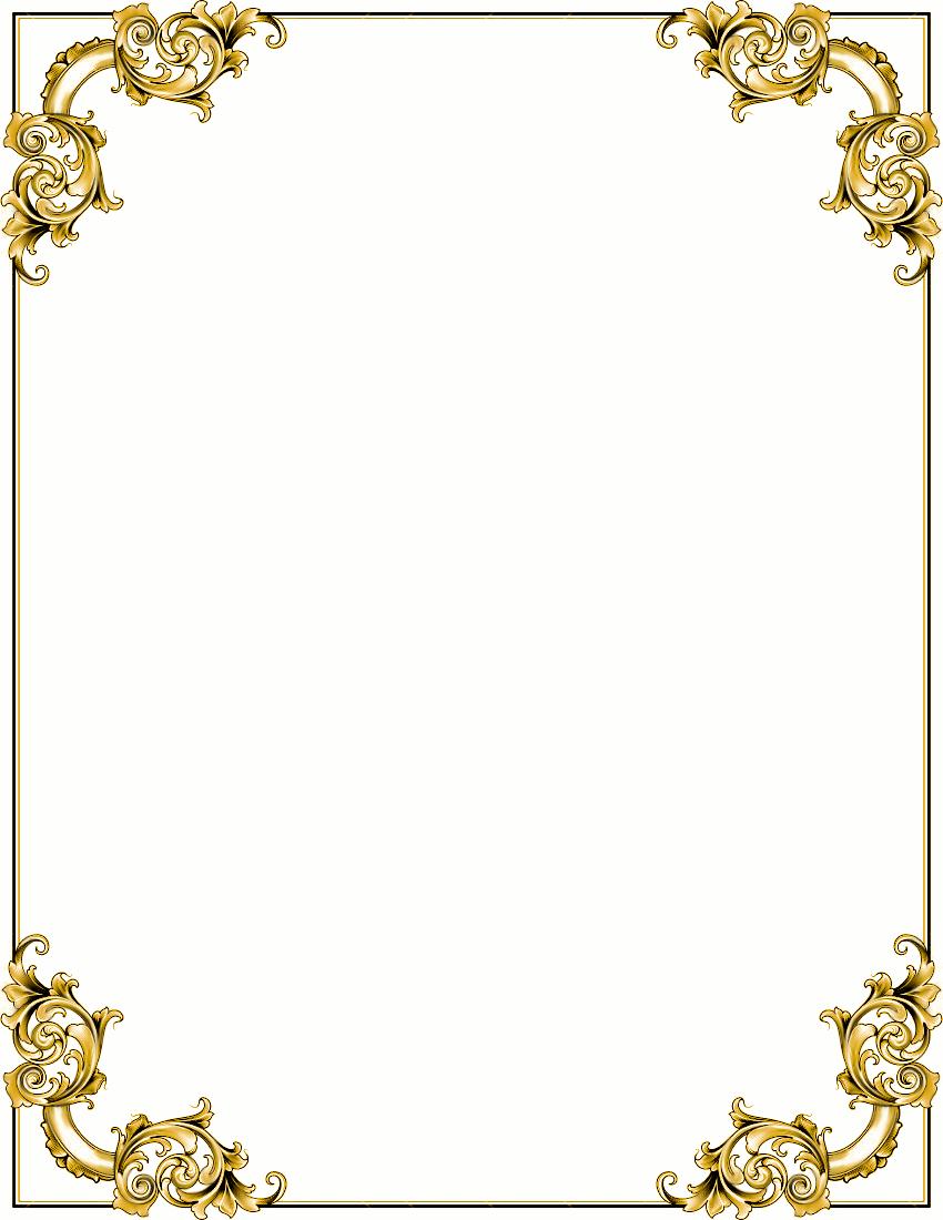Ornate Corners Frame Gold Clipart-Ornate Corners Frame Gold Clipart-8