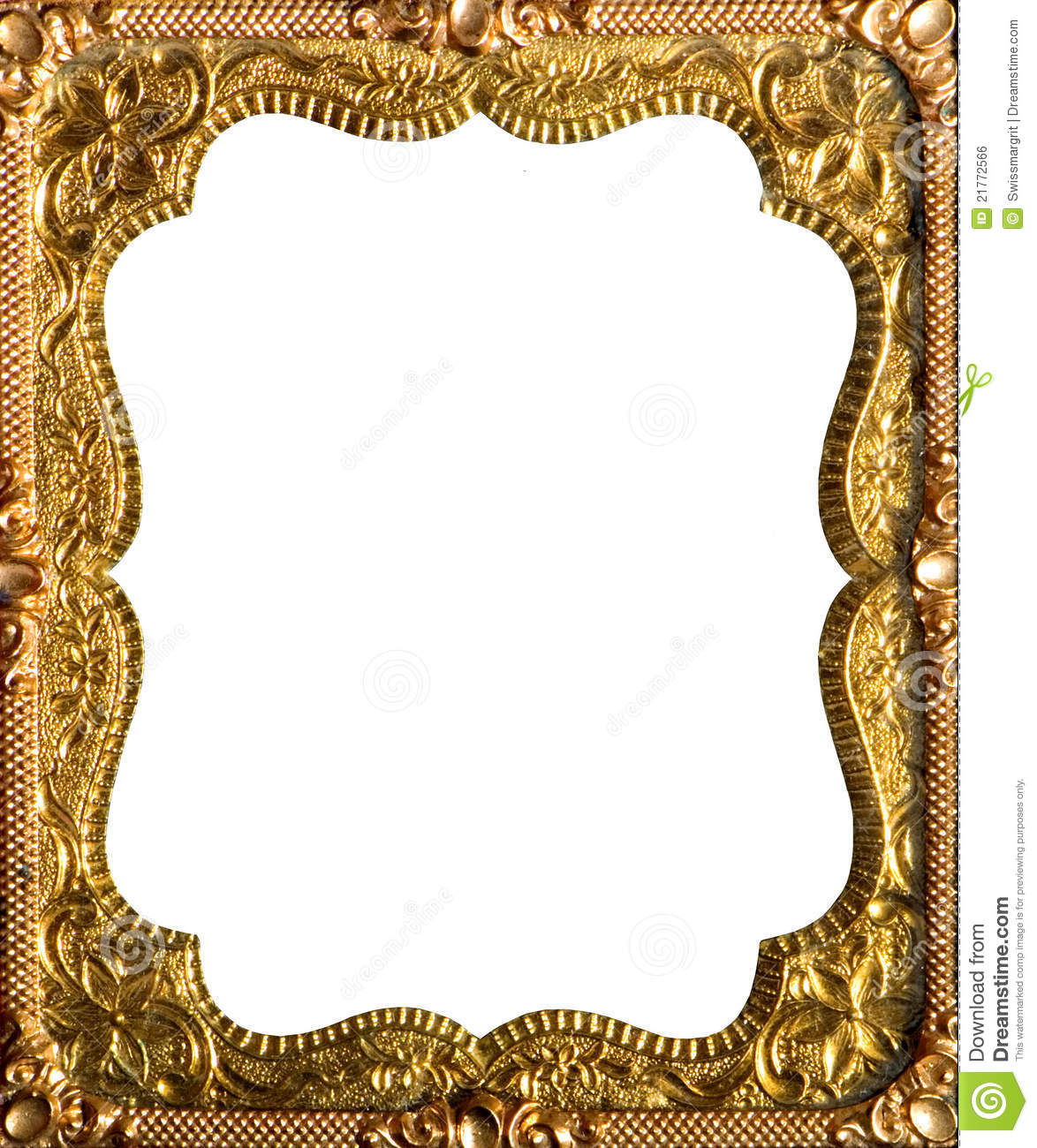 Ornate gold frame .