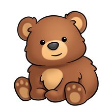 Ou Des Flash Cards More Baby Bear Drawing Cute Bears Bear Clipart