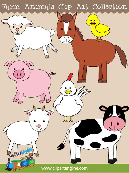 Our Farm Animals Clip Art .. - Free Farm Animal Clipart