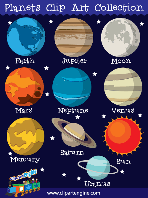 Our Planets Clip Art Collection Is A Set Of Royalty Free Vector