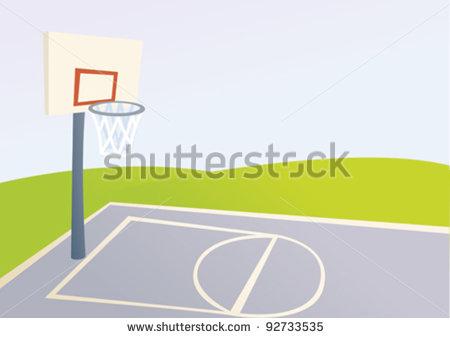 Outdoor Basketball Court Clip Art Cartoon Basketball Court