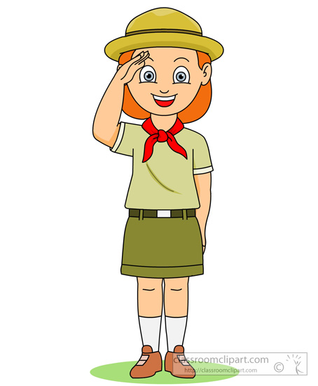 Outdoors Girl Scout Saluting Clipart Classroom Clipart