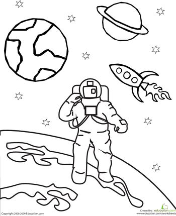 Outer Space Clipart Black And White. Color the Outer Space .