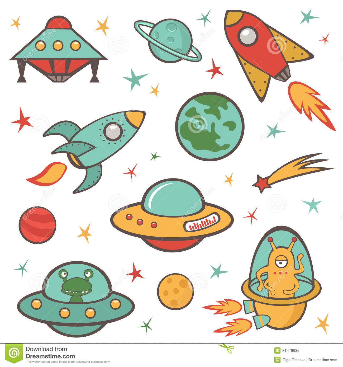 Outer space clipart - ClipartFest