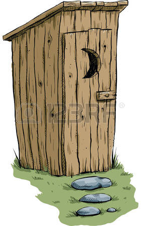 outhouse: A retro cartoon outhouse.-outhouse: A retro cartoon outhouse.-7
