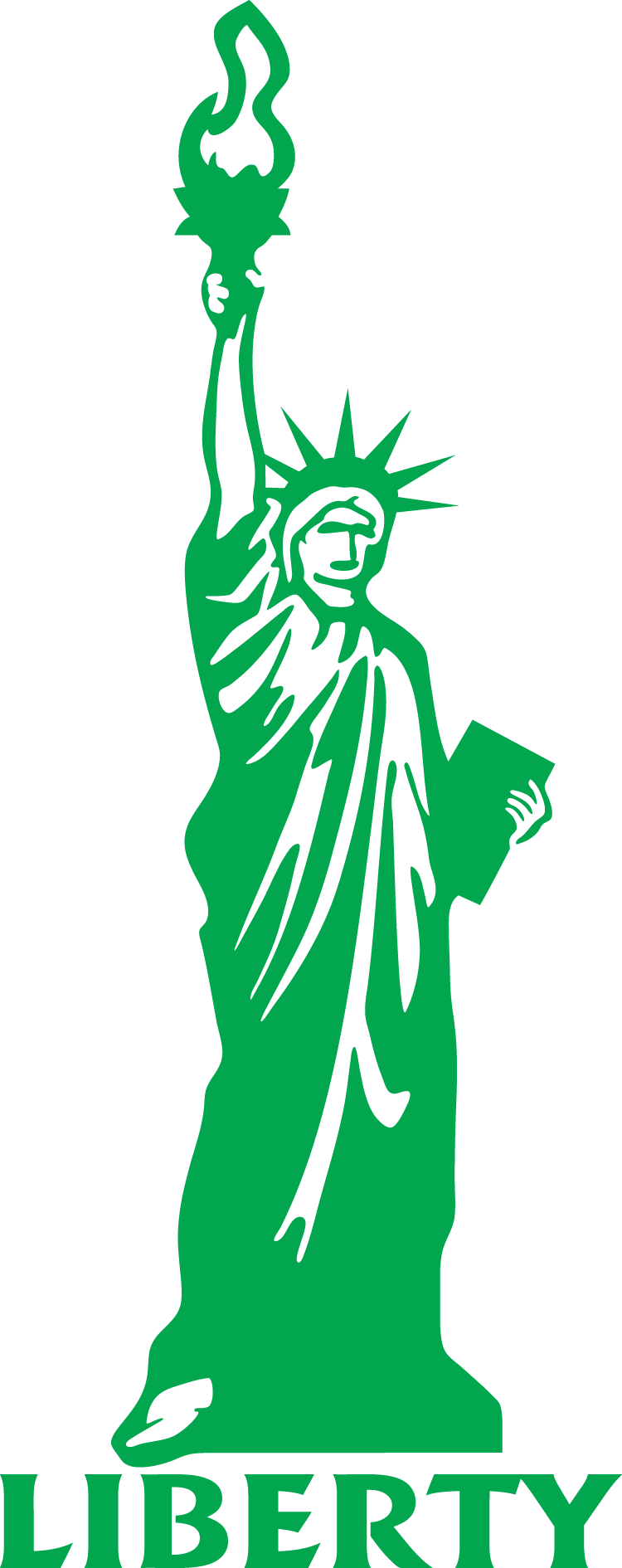 Outline Of Statue Of Liberty Clipart Best