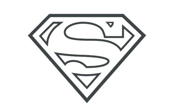 Outline Of Superman Logo-Outline Of Superman Logo-7