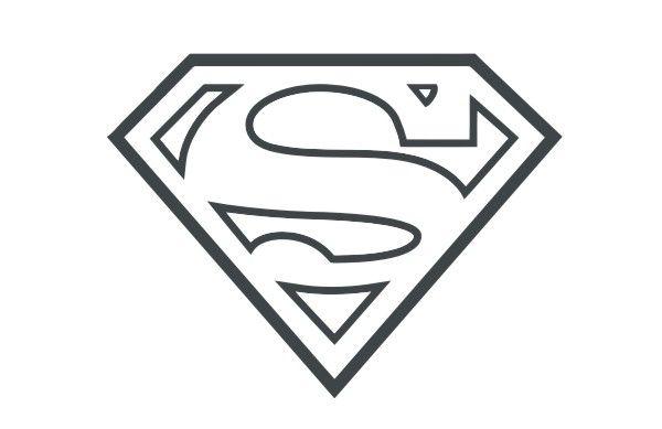 Outline Of Superman Logo-Outline Of Superman Logo-2