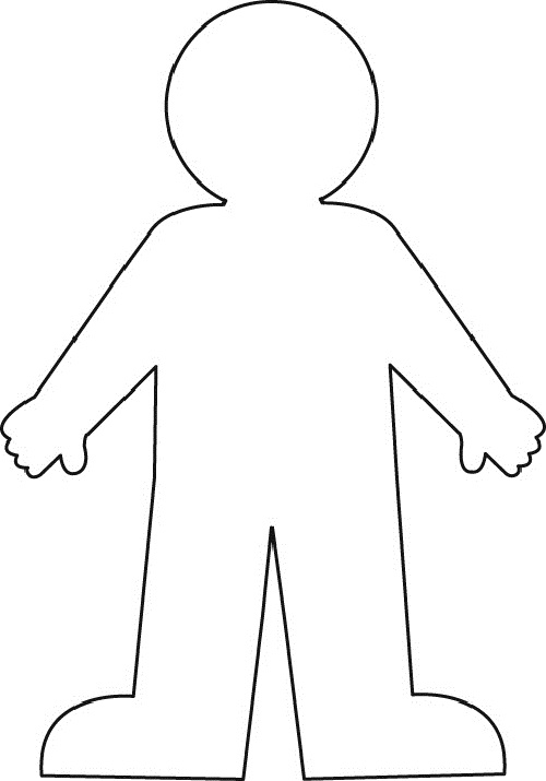 Outline Of The Body - Clipart library