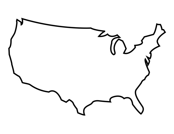 Outline Of The United States Clipart Best
